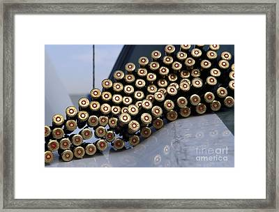 7.62 Mm Rounds Ready To Be Loaded Framed Print by Stocktrek Images