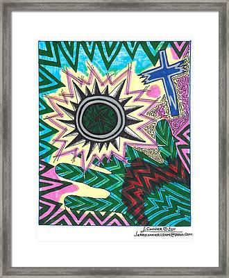Abstract Surrealism Landscape Framed Print by Jerry Conner