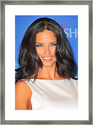 Adriana Lima At In-store Appearance Framed Print