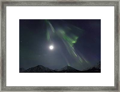 Aurora Borealis Or Northern Lights Framed Print by Robert Postma