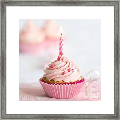 Birthday Cupcake Framed Print by Ruth Black