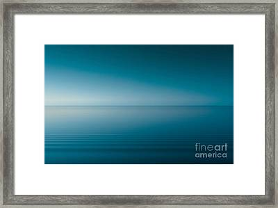 Blue Lake Framed Print by Odon Czintos