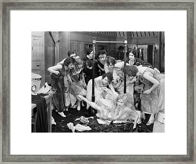 Damsel In Distress Framed Print by Granger