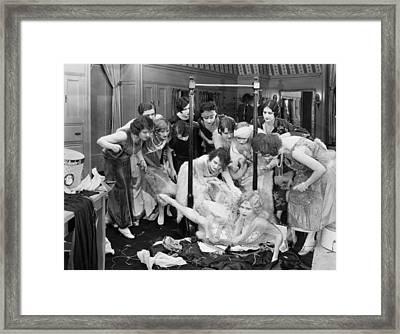 Damsel In Distress Framed Print by Granger