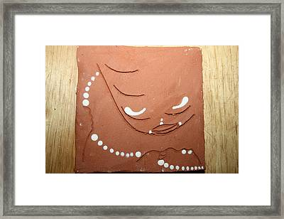 Mama - Tile Framed Print by Gloria Ssali