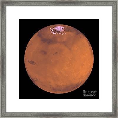 Mars Framed Print by Stocktrek Images