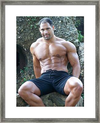 Muscleart Marius Poser Classic Framed Print by Jake Hartz
