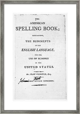 Noah Webster (1758-1843) Framed Print by Granger