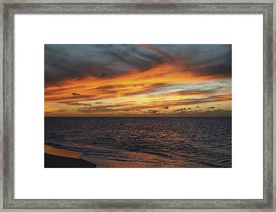 North Shore Sunset Framed Print by Vince Cavataio