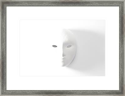 Plaster Mask In Studio Framed Print by Kantapong Phatichowwat