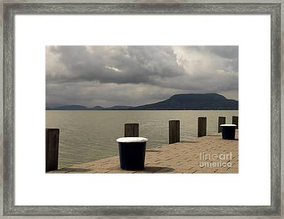 Port Landscape Framed Print by Odon Czintos