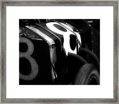 8 Racer Framed Print
