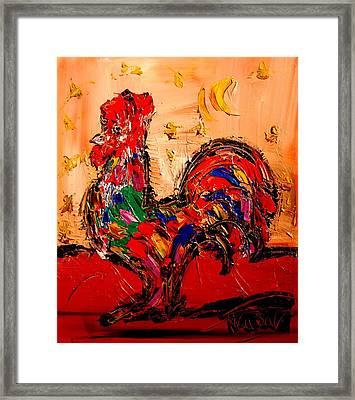 Rooster Framed Print by Mark Kazav