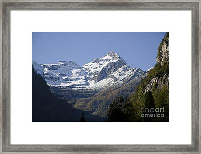 Snow-capped Mountain Framed Print by Mats Silvan