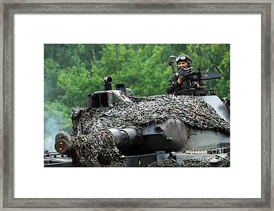 The Leopard 1a5 Main Battle Tank Framed Print by Luc De Jaeger