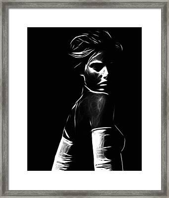 The Look Framed Print by Steve K