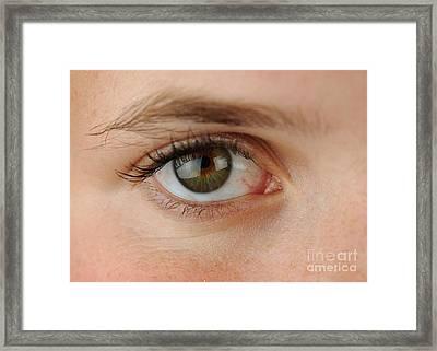 Womans Eye Framed Print