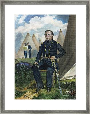 Zachary Taylor (1784-1850) Framed Print by Granger