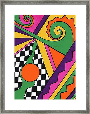 80's Glam Framed Print by Mandy Shupp
