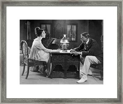 Silent Still: Man & Woman Framed Print by Granger