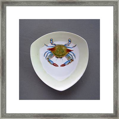 866 1 Part Of  Crab Set 1 Framed Print by Wilma Manhardt