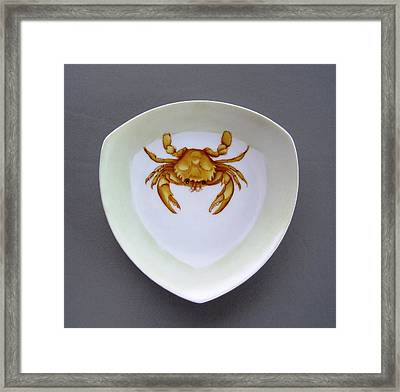 866 2 Part Of Crab Set 1 Framed Print by Wilma Manhardt