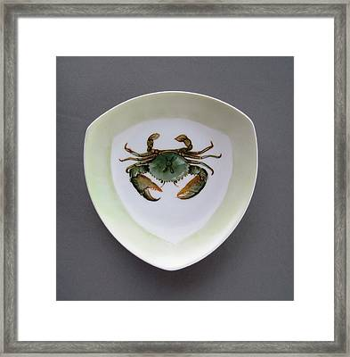 866 4 Part Of The Crab Set 1 Framed Print by Wilma Manhardt