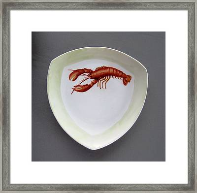 866 5 Part Of The Crab Set  866 Framed Print by Wilma Manhardt