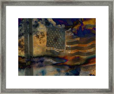 9-11 In Memory  Framed Print by Lenore Senior