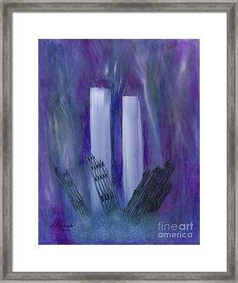 9-11 Remembering Framed Print by Judy Filarecki