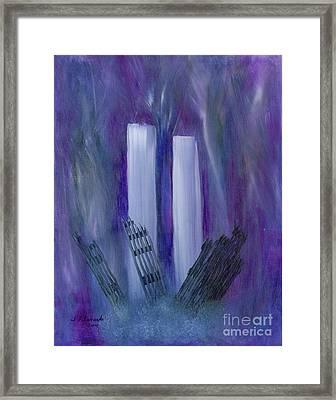 9-11 Remembering Framed Print