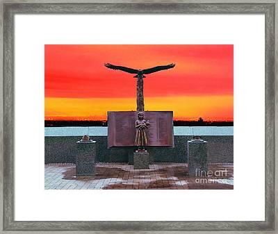 9-11  West Orange Nj Framed Print by Nick Zelinsky