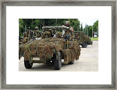 A Recce Or Scout Team Of The Belgian Framed Print