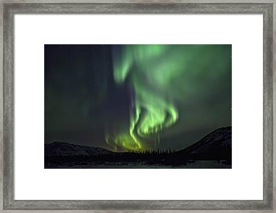 Aurora Borealis Or Northern Lights Framed Print by Robert Postma