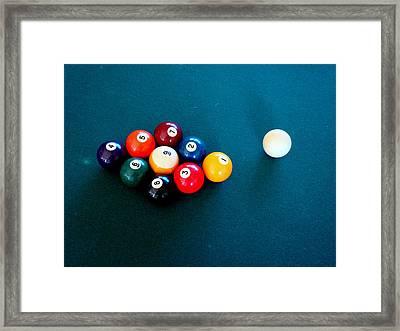 9 Ball Framed Print by Nick Kloepping