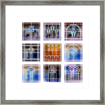 9 Bungalow Windows 2 Framed Print