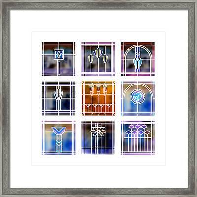 9 Bungalow Windows 2 Framed Print