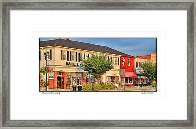 Downtown Perrysburg Framed Print by Jack Schultz