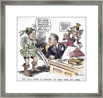 F.d. Roosevelt Cartoon Framed Print by Granger