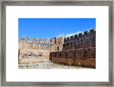 Frangocastello Castle. Framed Print by Fernando Barozza