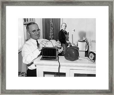Harry S. Truman (1884-1972) Framed Print by Granger