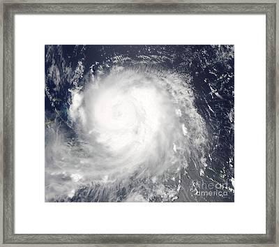 Hurricane Ike Framed Print by Stocktrek Images