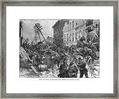 Johnstown Flood, 1889 Framed Print by Granger