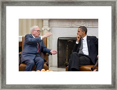 President Barack Obama Meets Framed Print by Everett