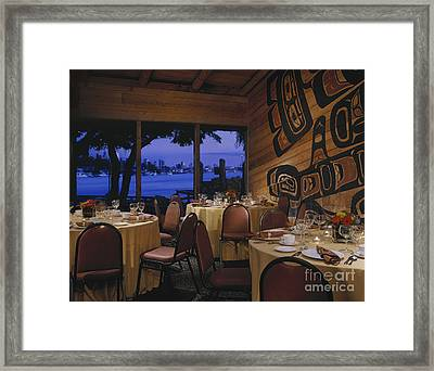 Restaurant Framed Print by Robert Pisano