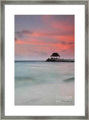 Sea Scape Sunrise Framed Print