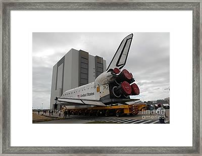 Space Shuttle Atlantis Framed Print