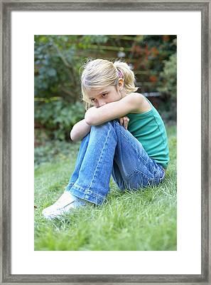 Unhappy Girl Framed Print