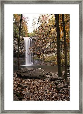 Waterfall Framed Print by David Troxel