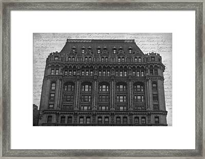 90 West Bw Framed Print by Teresa Mucha